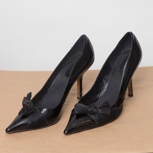 Kate Spade Black Heel With Bow Size 10